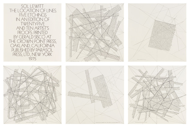 , 'The Location of Lines,' 1975, Sims Reed Gallery