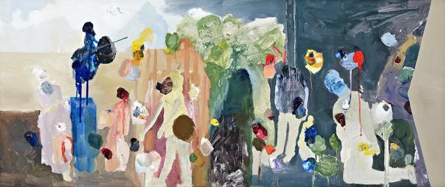 Karen Black, 'The blind philosopher ', 2015, Painting, Oil on wood, Sullivan+Strumpf