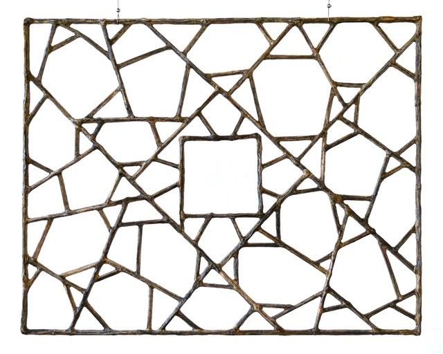 Gordon Cheung, 'Window 75.5 x 94 cm', 2018, Sculpture, Financial Times newspaper, bamboo, Galerie Huit
