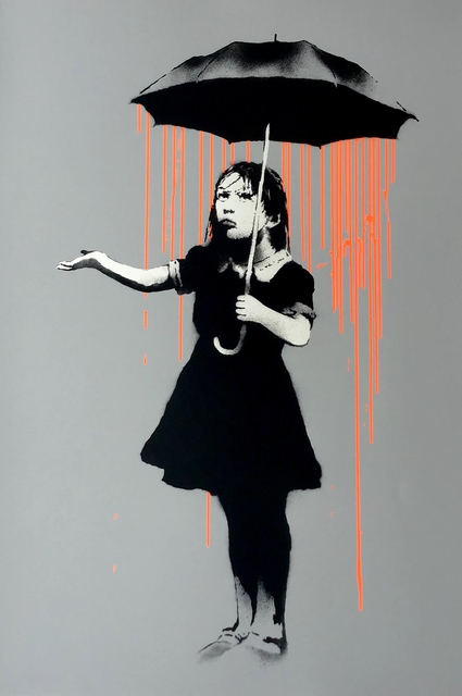 Banksy, 'Nola (Orange Rain) - Signed ', 2008, Hang-Up Gallery