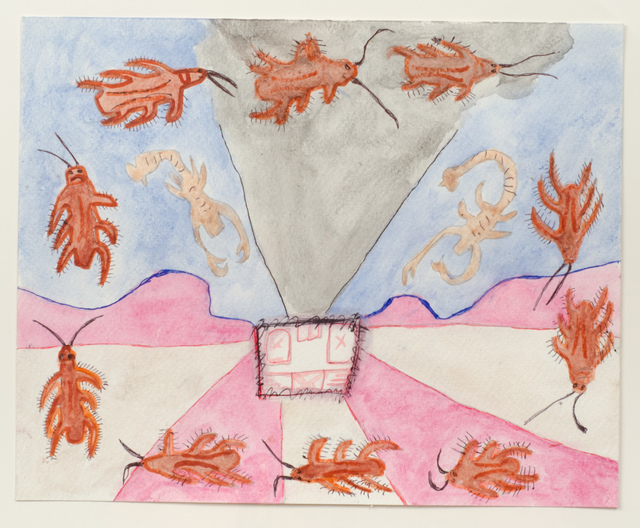 , 'Untitled (Insects on Pink, Gray and Blue),' 2015, Fleisher/Ollman