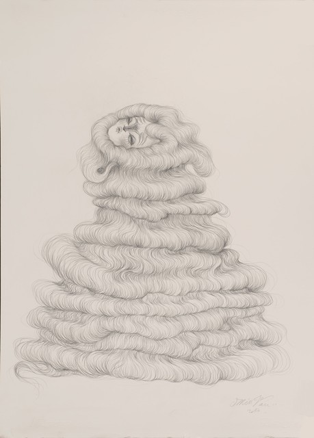 , 'Overflowing Hair Fountain,' 2017, Weinstein Gallery