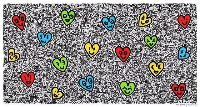 Mr. Doodle, 'Heartland', 2020 , Print, Giclee Print, Side X Side Gallery