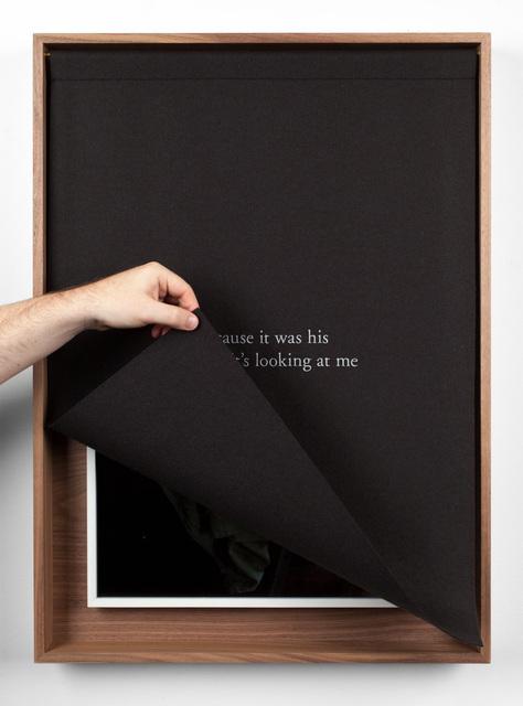 Sophie Calle, 'The Armchair', 2018, Sculpture, Pigment print, embroidered woolen cloth, wooden box, Fraenkel Gallery