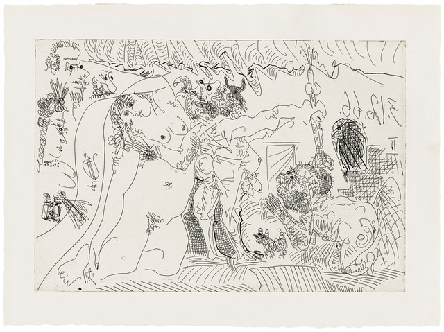 Pablo Picasso, 'Plate 7, from: El Entierro del Conde de Orgaz', 1966, Christie's