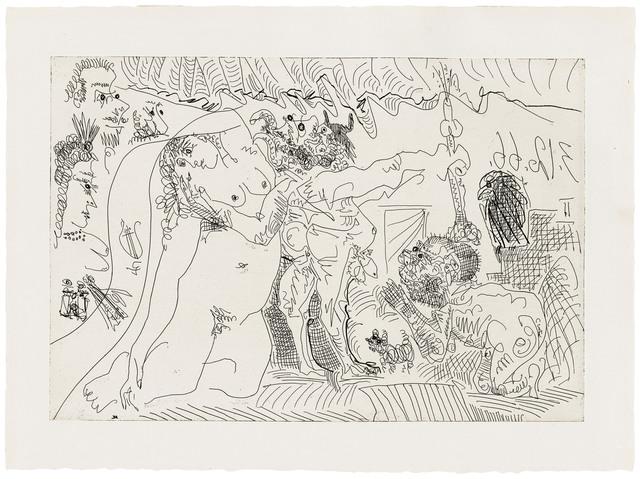 Pablo Picasso, 'Plate 7, from: El Entierro del Conde de Orgaz', 1966, Print, Etching on wove paper, Christie's