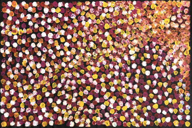 Polly Kngale, 'Ahwerty (Bush Plum)', ca. 2015, Painting, Acrylic on Belgian Linen, Wentworth Galleries
