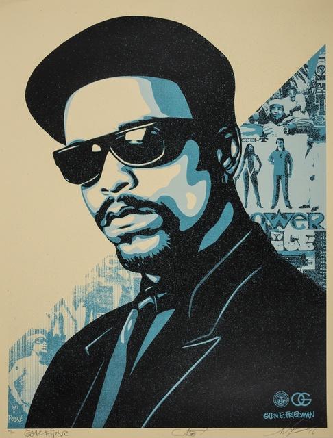 Shepard Fairey (OBEY), 'Ice-T OG (Blue)', 2016, Forum Auctions