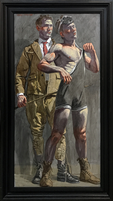 , '[Bruce Sargeant (1898-1938)] Wrestler and Man Looking On,' , ClampArt