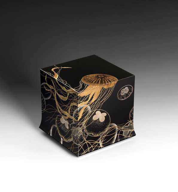 ", '""Swimming"" Box with Sprinkled Design of Jellyfish (T-4393),' 2018, Erik Thomsen"