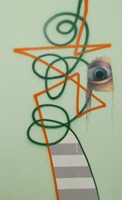 , 'Untitled Two Line Spray Portrait With White Drip,' 2012, envoy enterprises