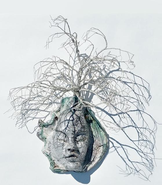 Trish Classe Gianakis, 'Cybela', 2019, Sculpture, Raku Fired Ceramic and wire, SHIM Art Network