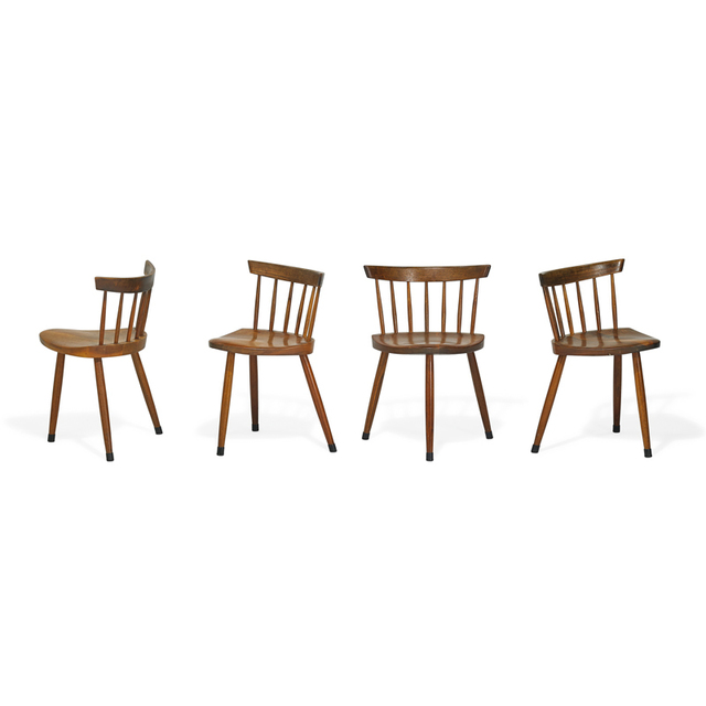 George Nakashima, 'Set of four Mira chairs, New Hope, PA', 1967, Rago