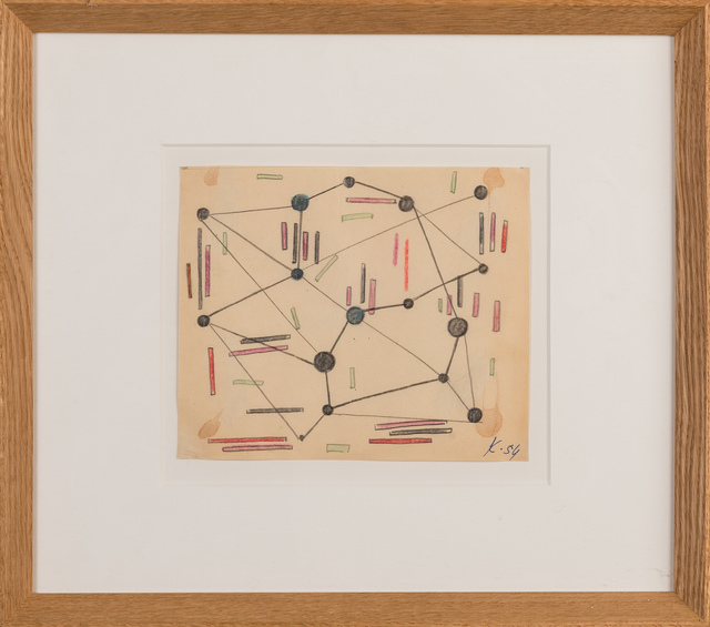 """, '""""Points rouges bleus noirs"""",' 1951, Galerie Dutko"""