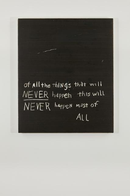 , 'Never Happen,' 2018, Federica Schiavo Gallery
