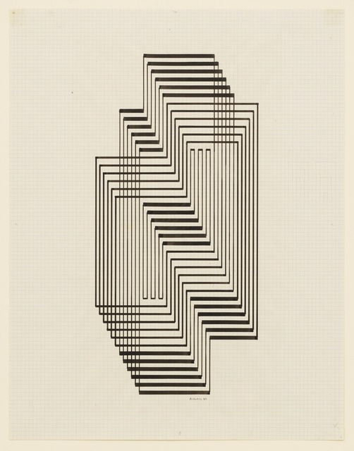 Josef Albers, 'Study for Graphic Tectonic (Ascension)', 1941, David Zwirner