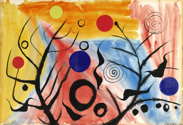 , 'Untitled (colourful),' 1953, Omer Tiroche Gallery