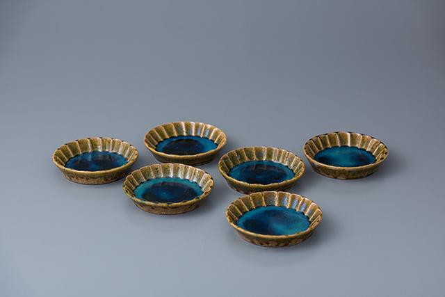 , 'Plate, oribe glaze (set of 6),' 2018, Pucker Gallery