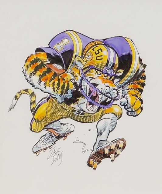 Jack Davis, 'LSU Tigers', 1990, The Illustrated Gallery