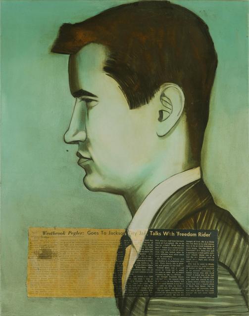 Charlotta Janssen, 'Charles David, Myers (Profile) 21, from Wilberforce, OH Arrested 5/28/1961 Jackson MS', 2011, Hudson Milliner Art Salon
