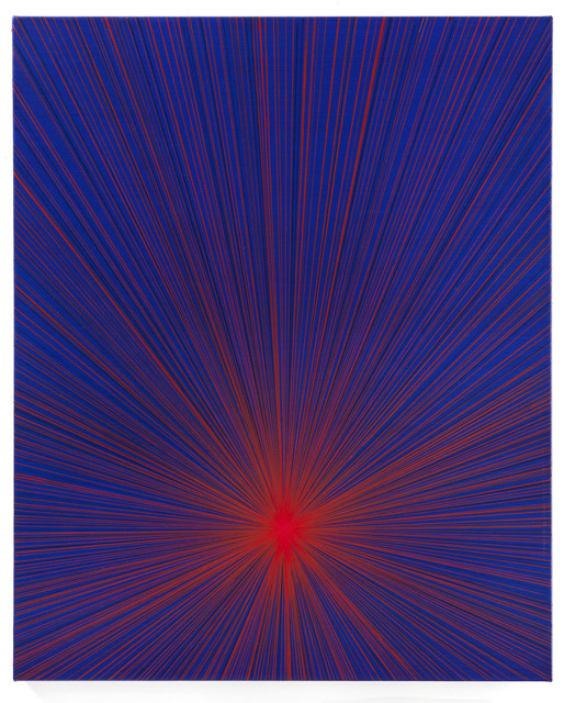 , 'Untitled (Red Beam on Blue),' 2016, P.P.O.W