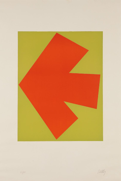 Ellsworth Kelly, 'Orange over Green (Orange sur Vert), from the Suite of Twenty-Seven Color Lithographs', 1964, Print, Lithograph in colors, on Rives BFK paper, with full margins, Upsilon Gallery