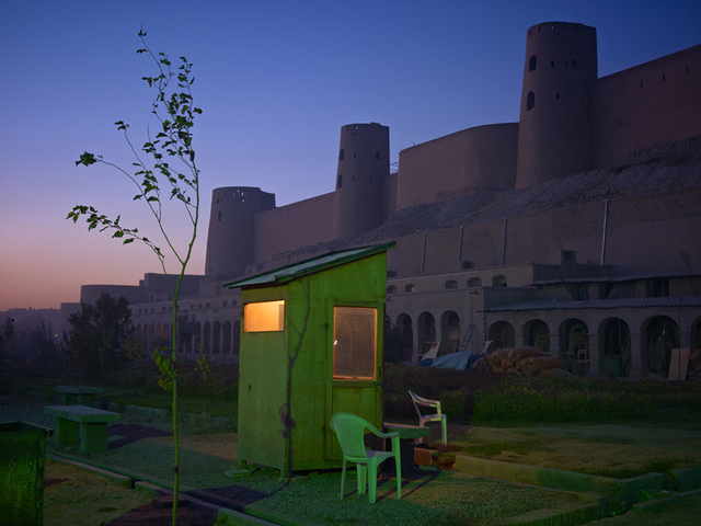, 'A Security Guards Booth at the Newly Restored Ikhtiaruddin Citadel, Herat,' 2010, Benrubi Gallery