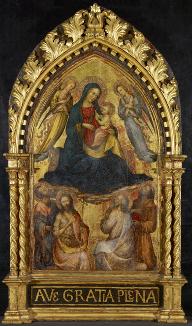 Master of the Straus Madonna, 'Virgin and Child with Angels and Four Saints', ca. 1400-1415, Art Gallery of Ontario (AGO)
