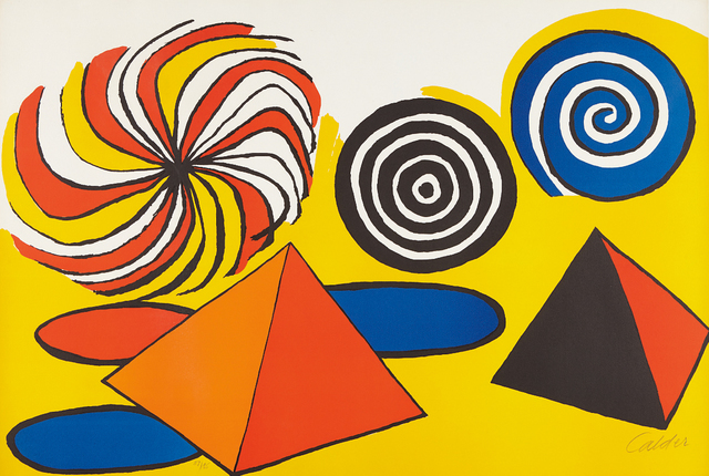 Alexander Calder, 'Untitled (Pinwheels and Pyramids)', ca. 1970, Phillips