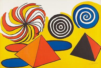 Alexander Calder, 'Untitled (Pinwheels and Pyramids),' ca. 1970, Phillips: Evening and Day Editions (October 2016)