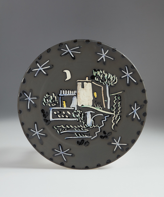 Pablo Picasso, 'Landscape (Paysage)', 1953, Design/Decorative Art, White earthenware plate, with decoration in engobes and knife engraving under partial brushed glaze., Phillips