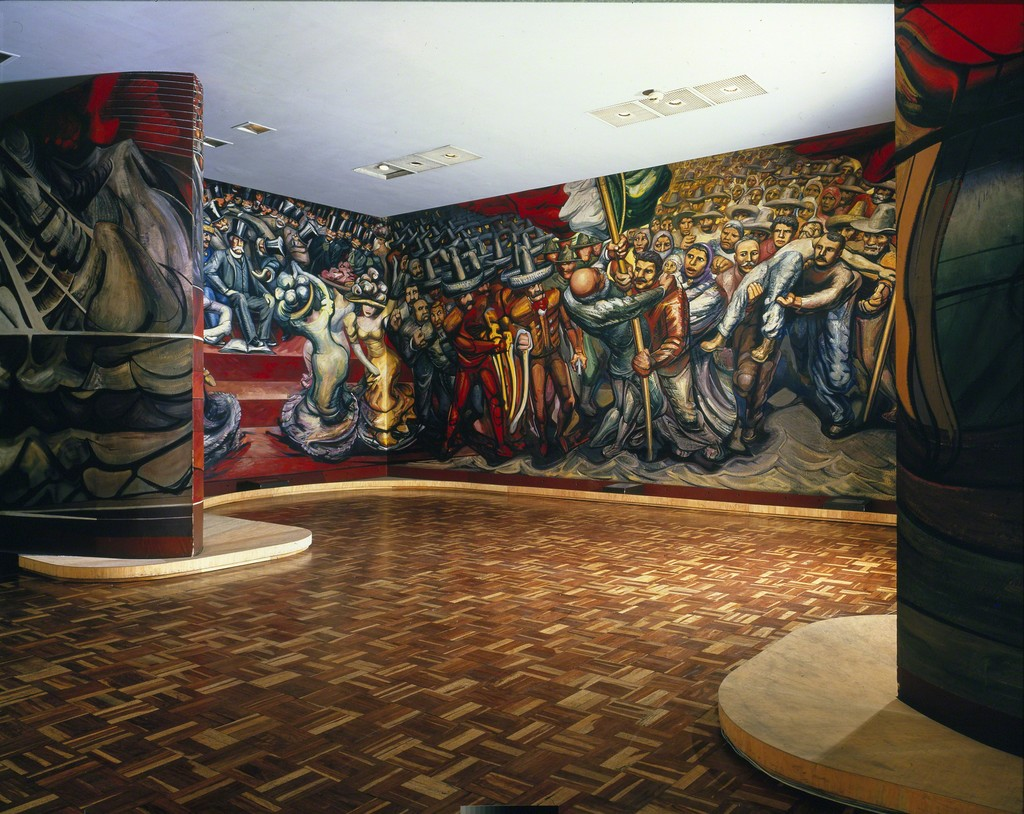 David alfaro siqueiros encounter of the armies from for Mural siqueiros