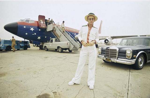 Terry O'Neill, 'Elton John and his Airplane, Los Angeles, CA', 1975, Dallas Collectors Club