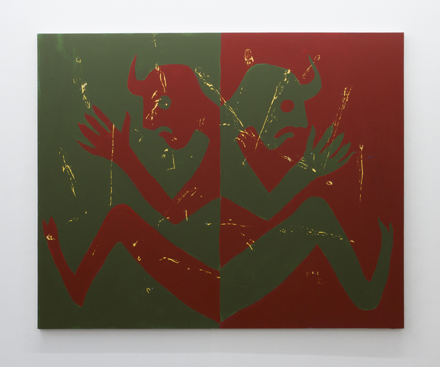 , 'Untitled (Double Demons Red and Green),' 2016, SADE