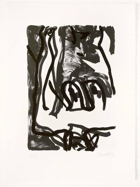 Georg Baselitz, 'Rose', 1993, Print, Lithograph, handsigned, numbered, ARTEDIO