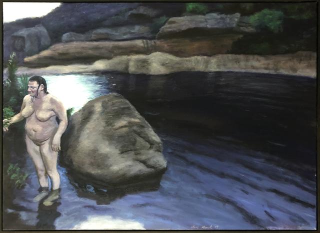 , 'Dreaming upon an indigo pool,' 2019, 99 Loop Gallery