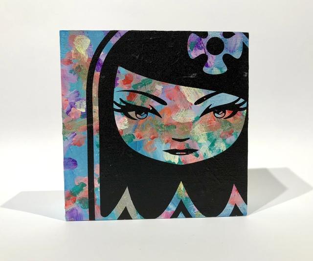 matt siren, 'Ghost Girl 32', 2018, Painting, Screenprint, Acrylic and spray enamel on wood block; each is unique, Woodward Gallery