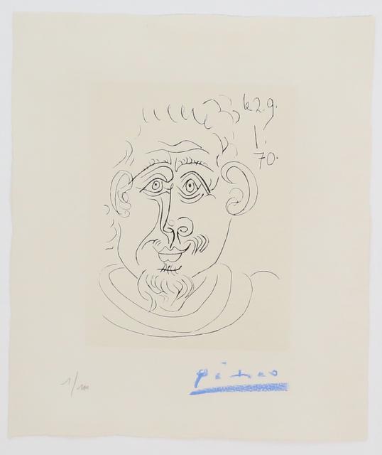Pablo Picasso, 'Tête d'homme au bouc', 1970, Puccio Fine Art