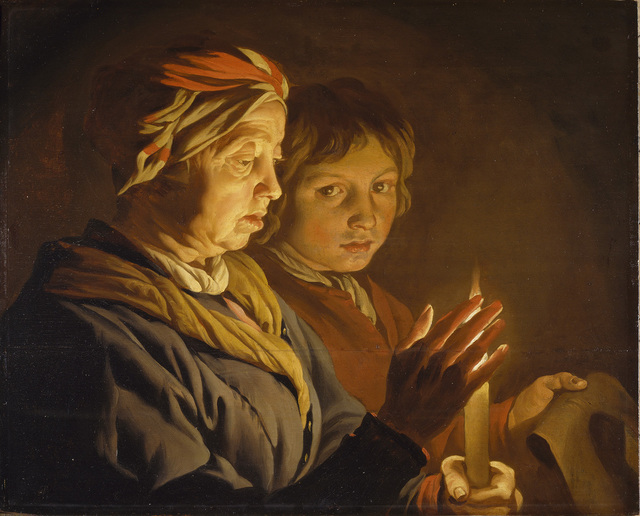 , 'An Old Woman and a Boy by Candlelight,' 1620s, The National Gallery, London