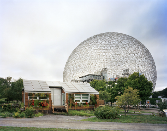 ", 'Montreal 1967 World's Fair, ""Man and His World,"" Buckminster Fuller's Geodesic Dome With Solar Experimental House,' 2012, Tracey Morgan Gallery"