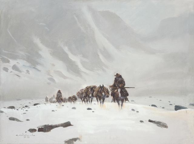Ernest Chiriacka, 'Mule Train Mountain Pass', 1978, Casweck Galleries