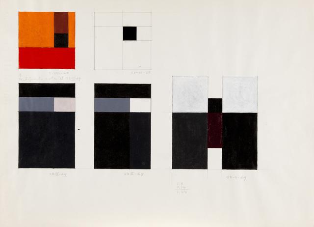 , 'Sketches for Modulated Constructions,' 1968-1969, GALERÍA JOSÉ DE LA MANO