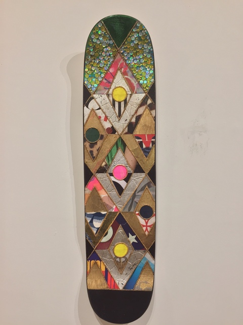 Jill Ricci, 'Green With Envy', 2020, Painting, Mixed media on skatedeck, Parlor Gallery