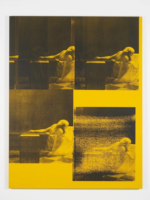 Gavin Turk, 'Marat Yellow', 2016, MARUANI MERCIER GALLERY