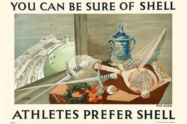 , 'ATHLETES PREFER SHELL - YOU CAN BE SURE OF SHELL,' c.1935, Omnibus Gallery