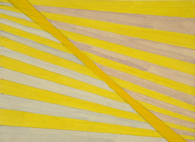 , 'Yellow tapering stripes,' 1962, Flowers