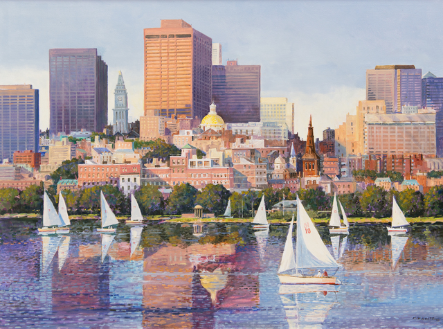 Frederick Kubitz, 'Historic Statehouse, Boston MA', 2018, The Guild of Boston Artists