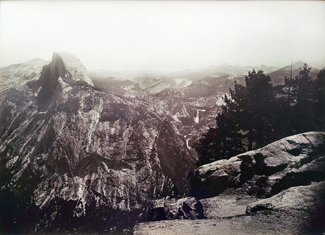 , 'The Half Dome, Vernal and Nevada Falls, from Glacier Point Yosemite,' 1878-1881, Lee Gallery