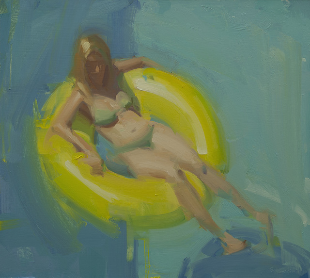, 'Blue and Yellow,' 2015, Sue Greenwood Fine Art