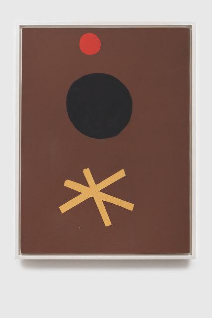 , 'Asterisk on Brown,' 1967, Helwaser Gallery